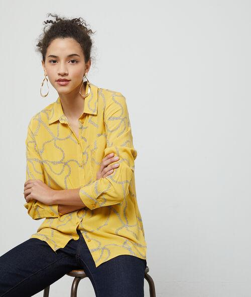 Chemise à imprimé chaines Etam Etam Prêt-à-porter > LES VÊTEMENTS > Chemisiers & Blouses – 2° à -50% > Chemises