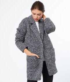 Manteau 3/4 gris anthracite.