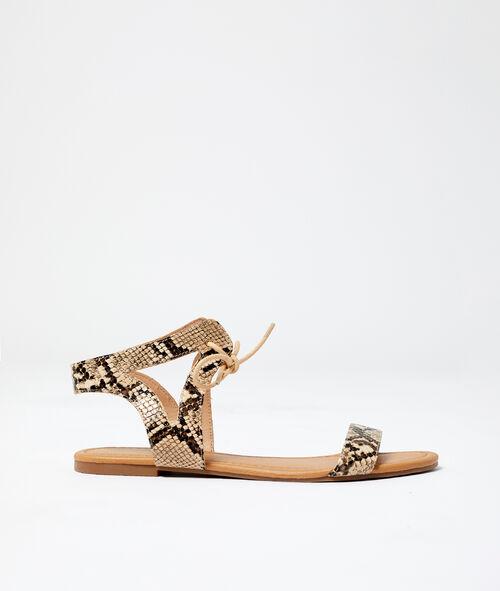 Sandales à imprimé serpent Etam Etam Prêt-à-porter > LES ACCESSOIRES > Tous les Accessoires