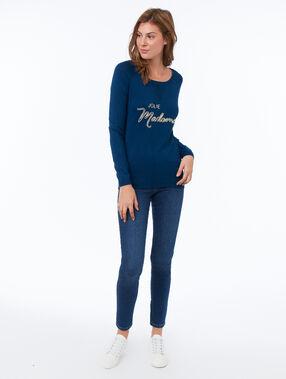 Skinny jeans blauw.