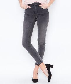 Jean skinny gris anthracite.