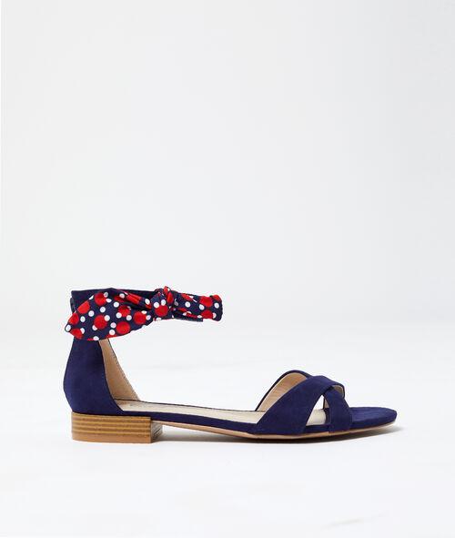 Sandales nouées effet daim Etam Etam Prêt-à-porter > ACCESSOIRES > Chaussures > LES SANDALES