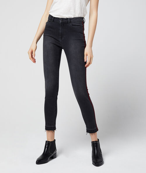 Jean slim à bandes latérales zèbre Etam Etam Prêt-à-porter > LES VÊTEMENTS > Jeans > Slim