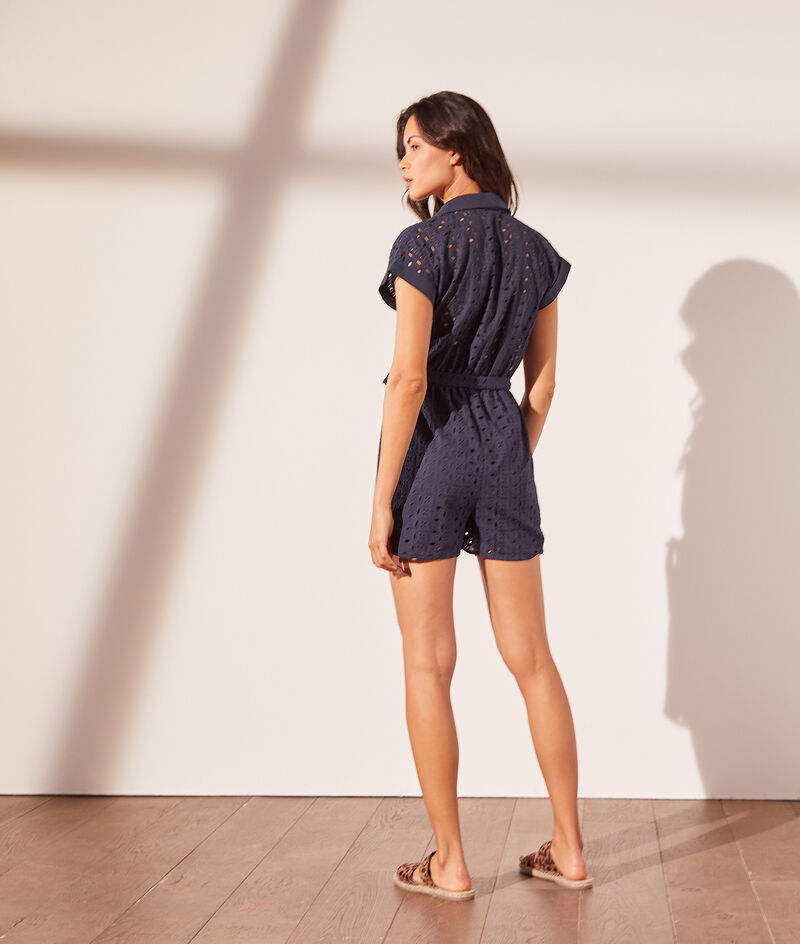 Playsuit met broderie anglaise