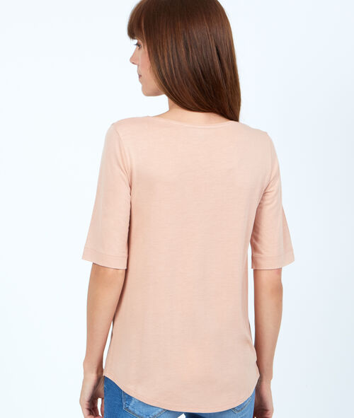 T-shirt 3/4 mouwen in viscose