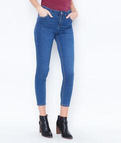 Pantacourt en jean bleu stone.