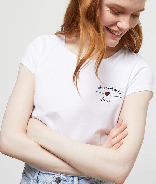 T-shirt 'maman chérie' en coton Etam Etam Prêt-à-porter > LES VÊTEMENTS > Tops & T-Shirts – 2° à -50% > Les Basiques