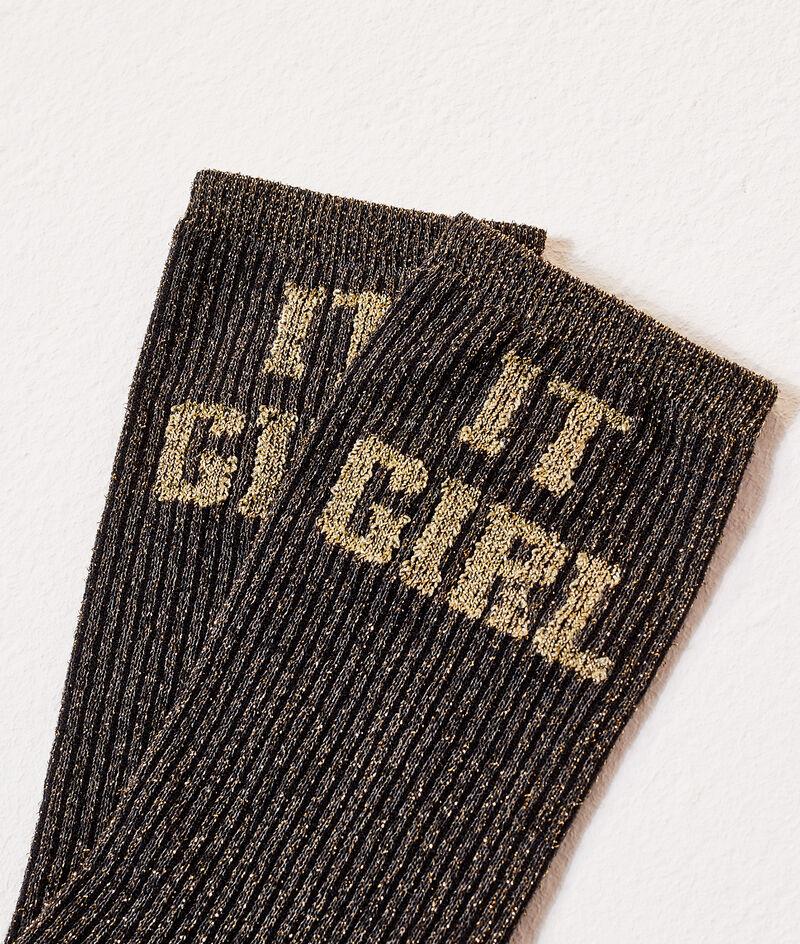 """Chaussettes """"It girl"""" à fils métallisés"""
