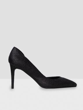 Escarpins pailletés noir.
