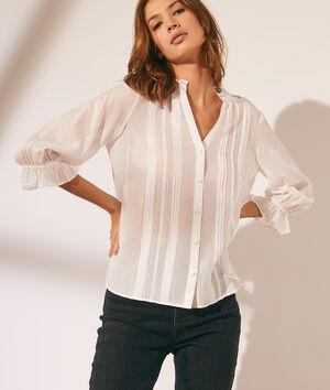 Doorzichtige blouse met kanten details