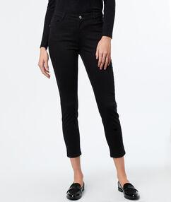 Pantalon 7/8 slim noir.