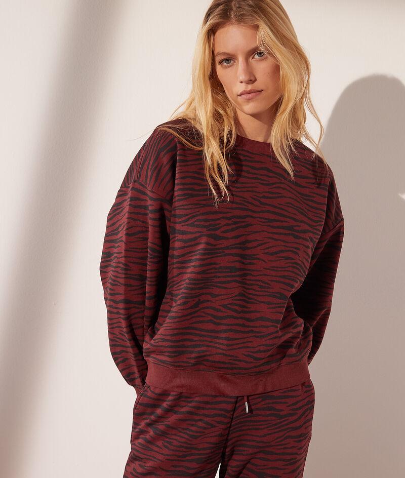 Sweater met zebraprint