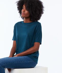 T-shirt met boothals blauw.