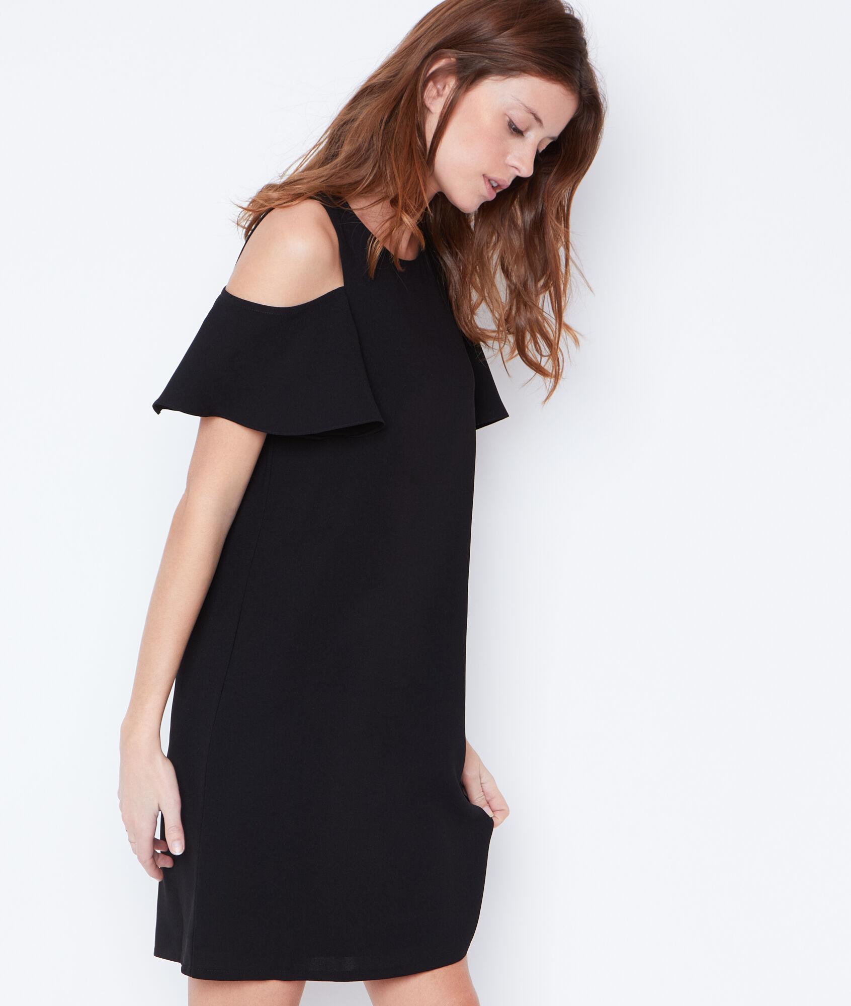 Robe noire dentelle etam