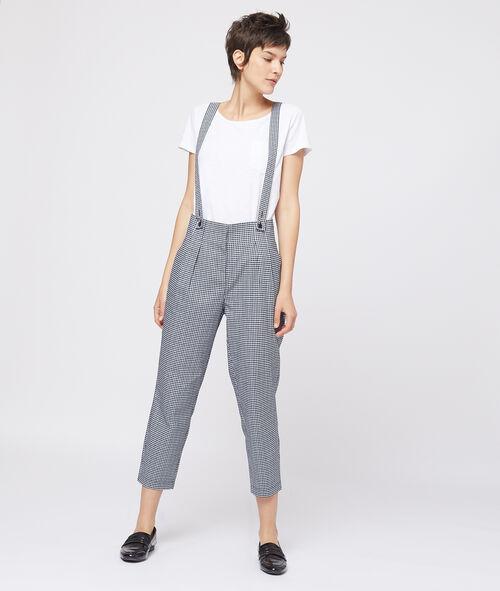 Pantalon imprimé vichy à bretelles Etam Etam Prêt-à-porter > LES VÊTEMENTS > Pantalons > Larges