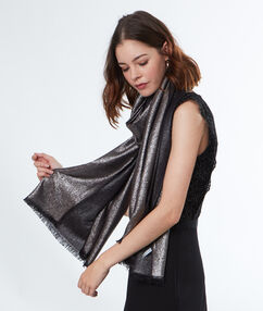 Foulard brillant noir.