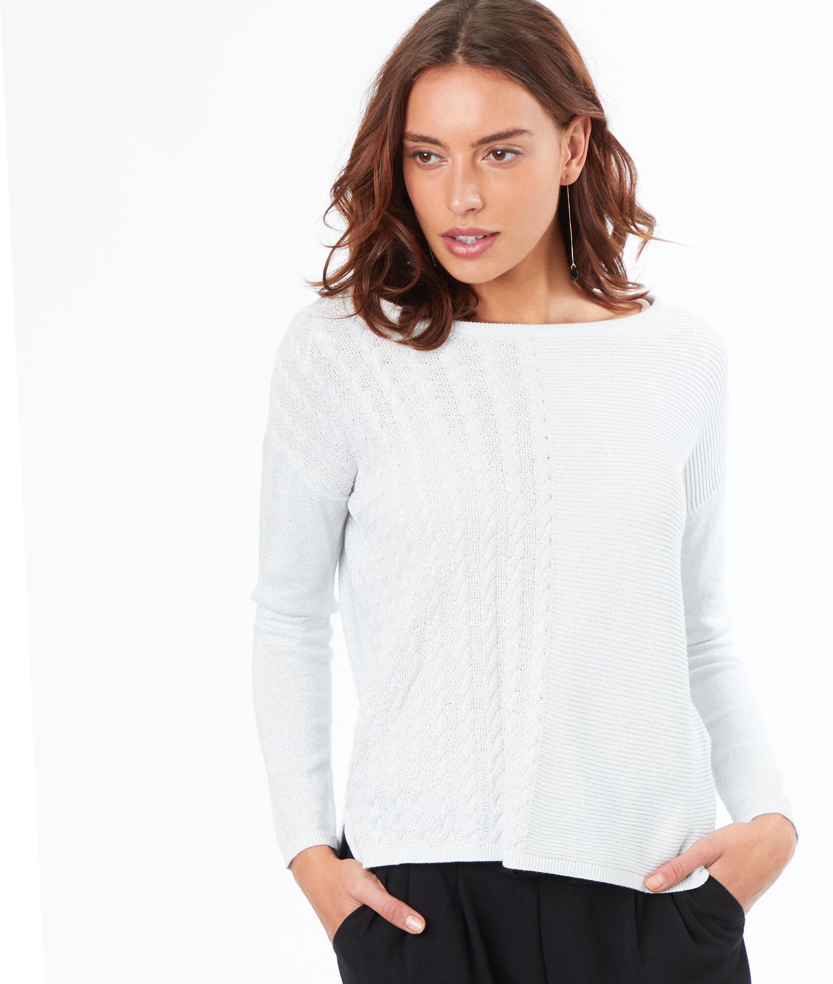 Robe pull blanche etam