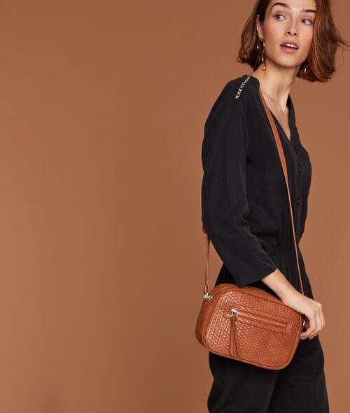Sac besace zippé effet cuir Etam Etam Prêt-à-porter > ACCESSOIRES > Sacs et Pochettes