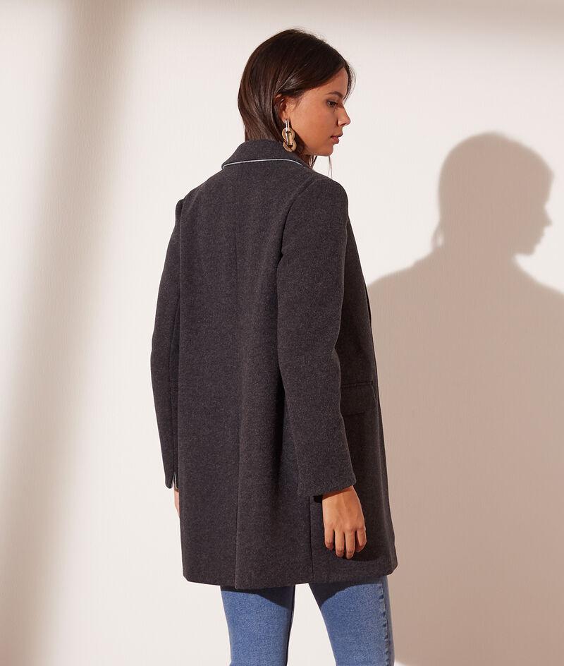 Mantel met rechte snit