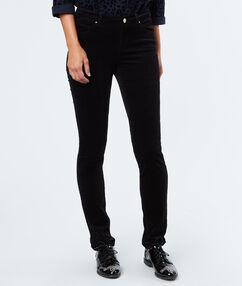 Pantalon slim en coton noir.