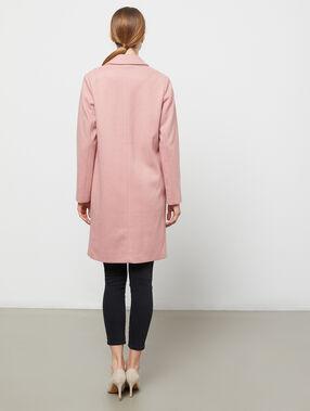 Manteau masculin vieux rose.
