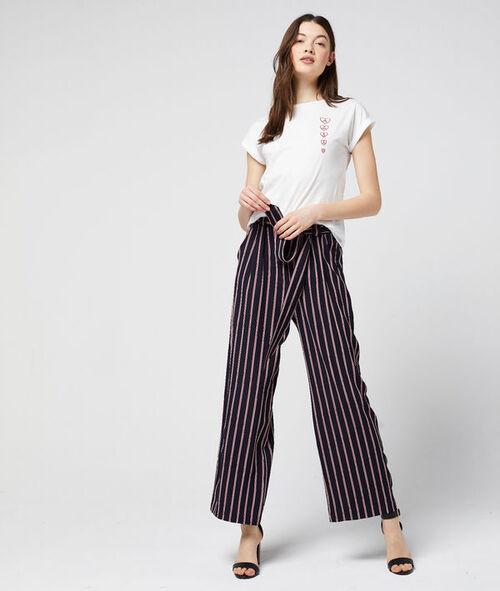Pantalon large ceinturé à rayures Etam Etam Prêt-à-porter > LES VÊTEMENTS > Pantalons > Larges