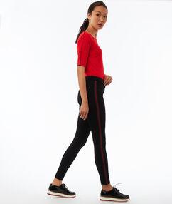 Pantalon skinny avec bande latérale noir.