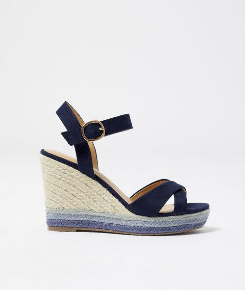 Sandales croisées à talons effet daim Etam Etam Prêt-à-porter > ACCESSOIRES > Chaussures > LES SANDALES