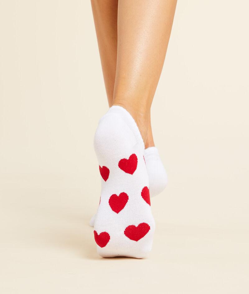 Set van 2 paar must-have sokjes met hartjesmotief