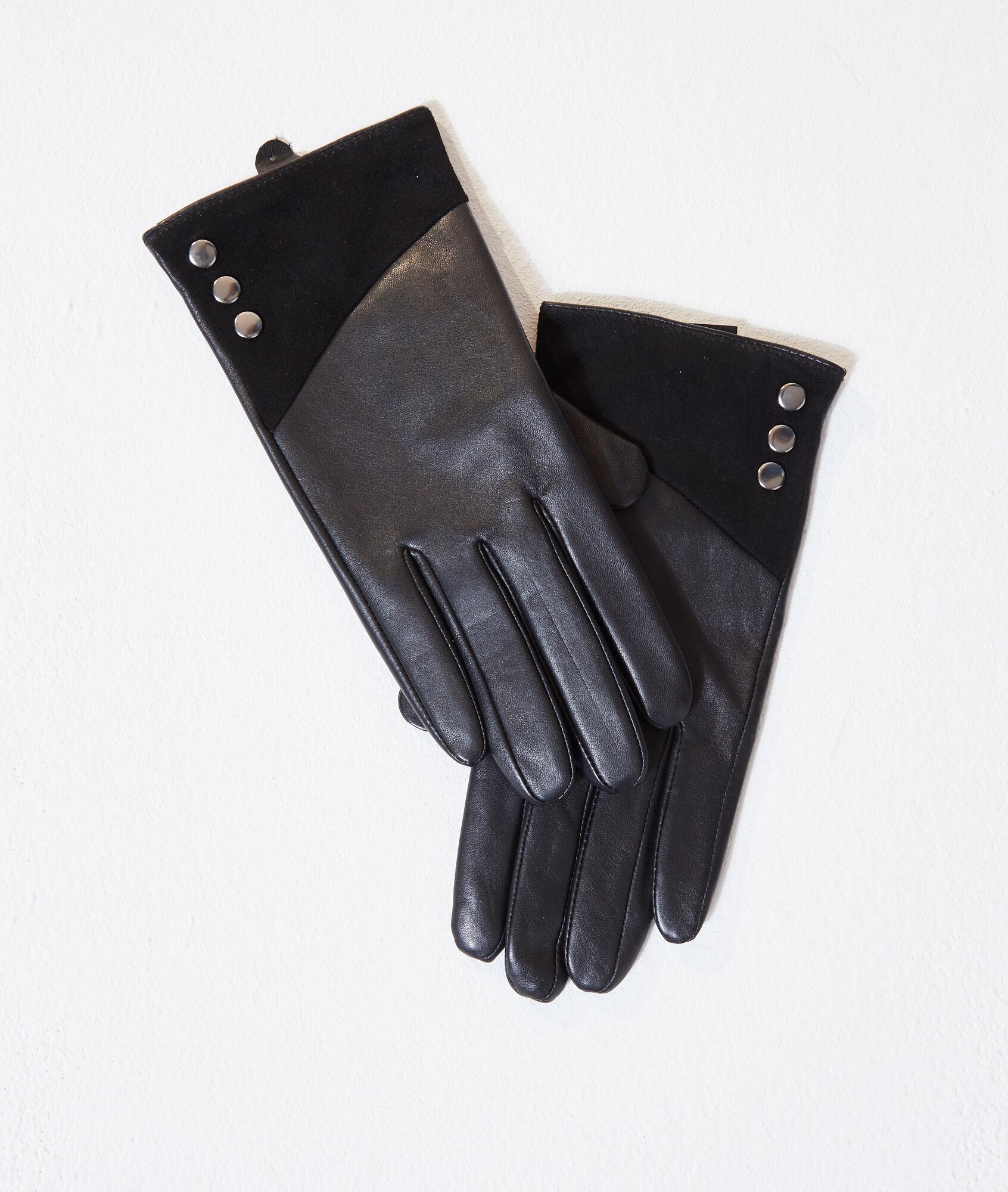 2 Paires de vachette cuir Gants de travail avec Renforcé Palm Pour Hommes Femmes Avec 1
