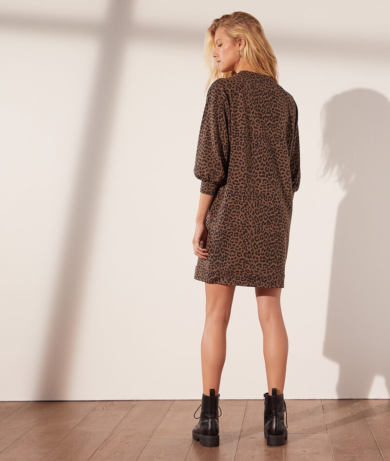 Robe sweat léopard
