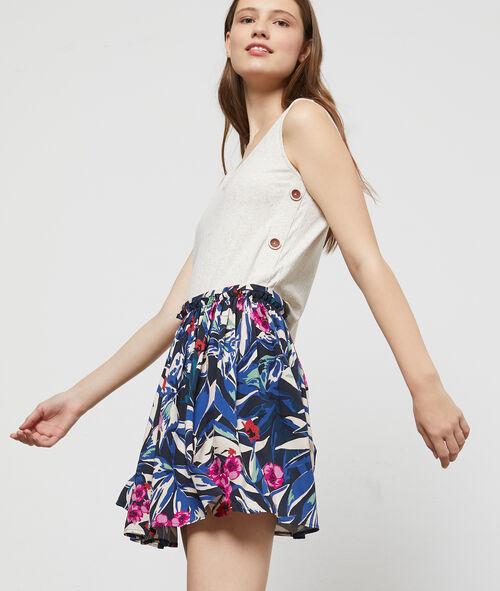 Jupe patineuse à imprimé floral Etam Etam Prêt-à-porter > LES VÊTEMENTS > Jupes > Jupes Courtes