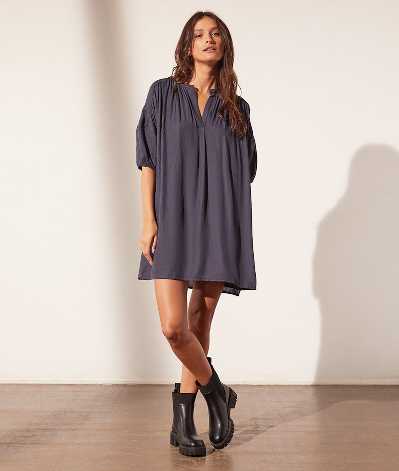 Robe courte en coton