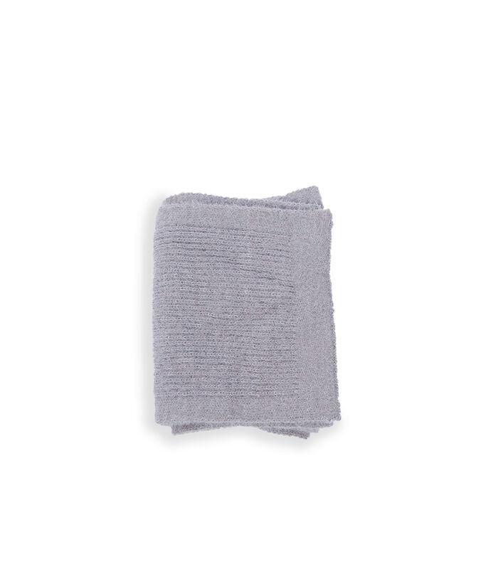 Écharpe côtelée unie gris chine fonce.
