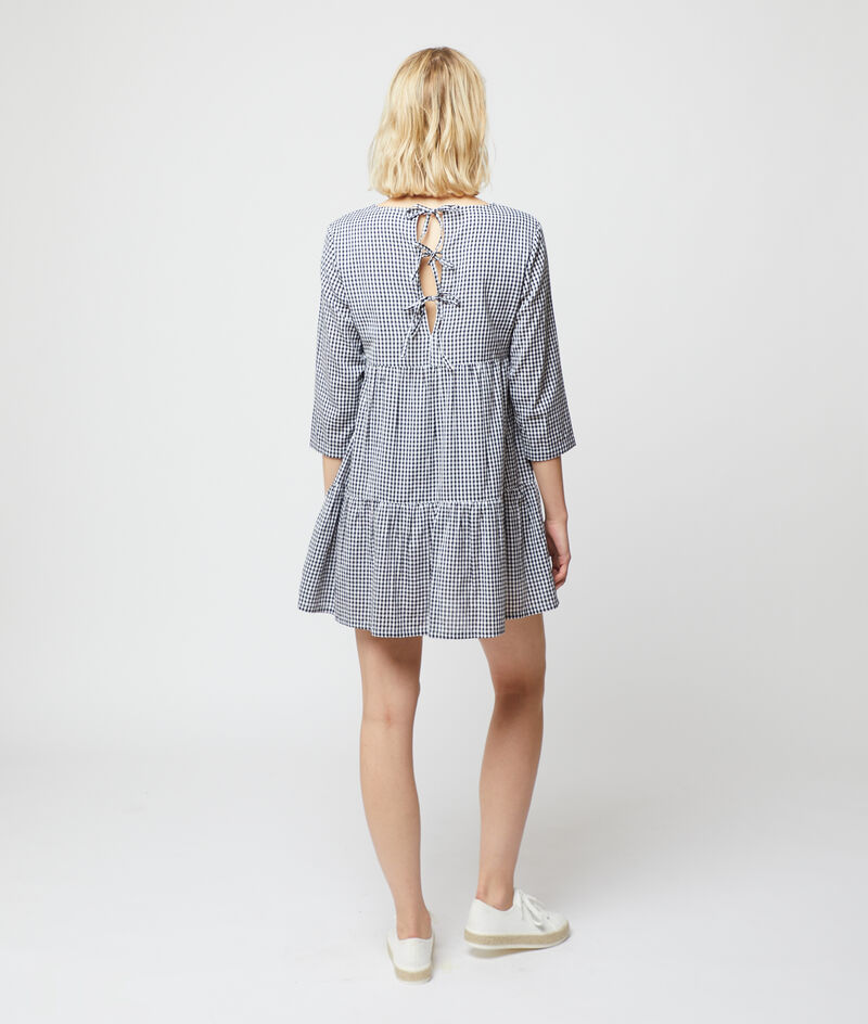 Luchtige jurk met vichyprint