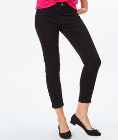 Pantalon 7/8 en coton noir.