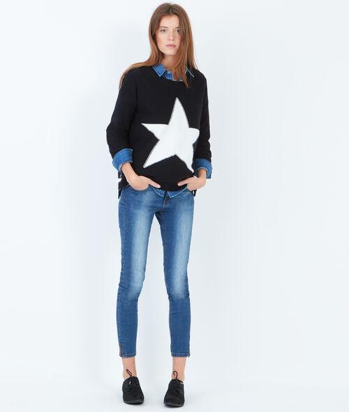 Pull étoile contrastée