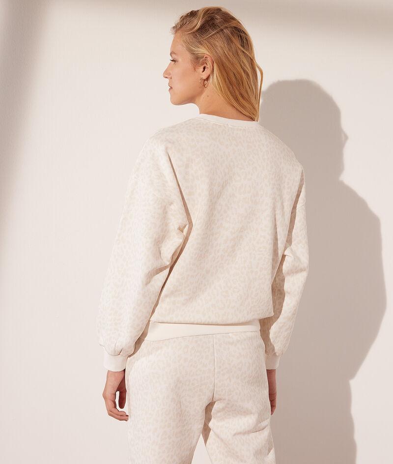 Sweater met luipaardprint