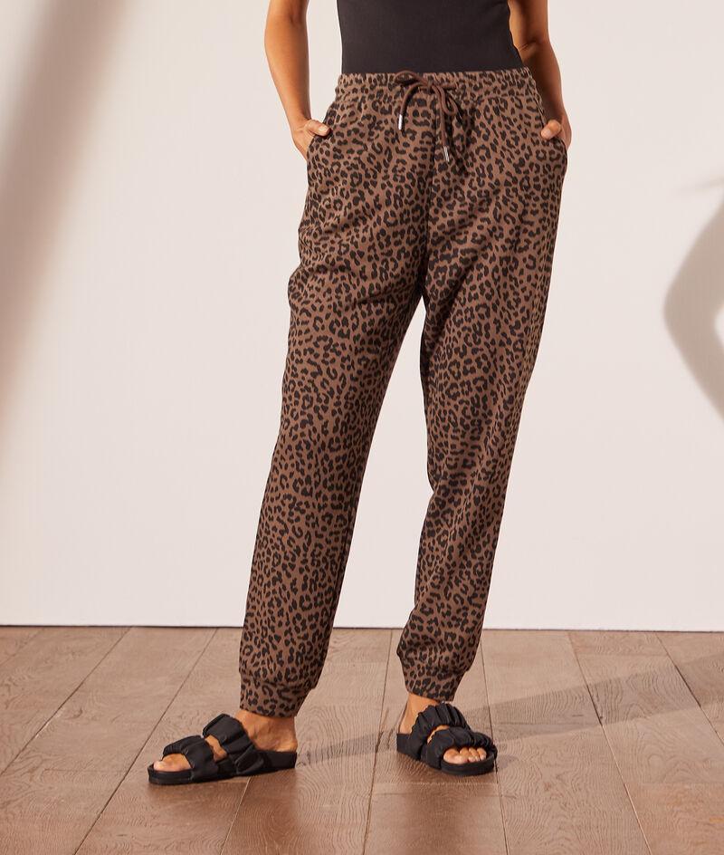Pantalon jogger léopard