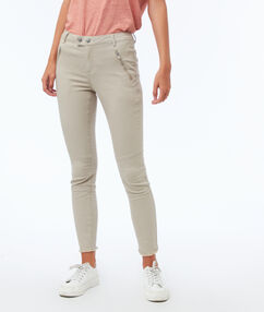 Pantalon slim avec poches zippées dune.