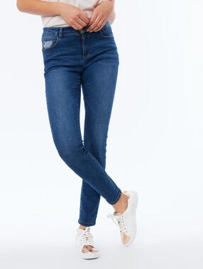 Slanke jeans blauw.