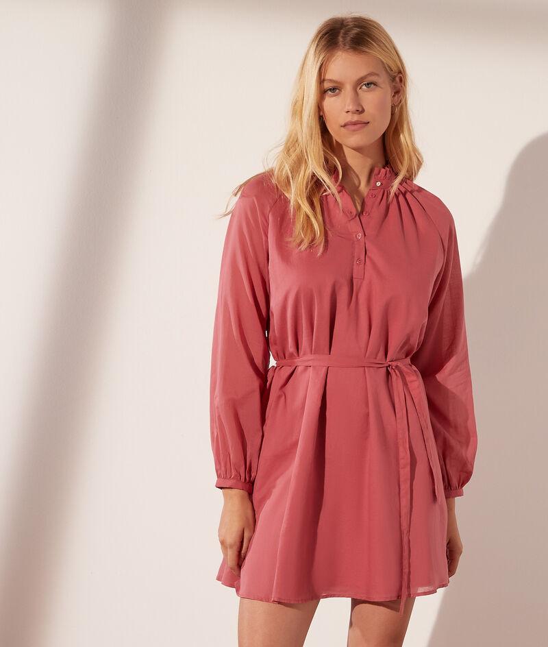 Katoenen korte jurk met riem