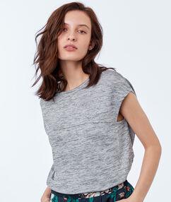T-shirt met ronde hals lichtgrijs.