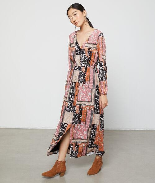 Robe longue à patchwork floral Etam Etam Prêt-à-porter > VÊTEMENTS > Robes > Les Robes Imprimées
