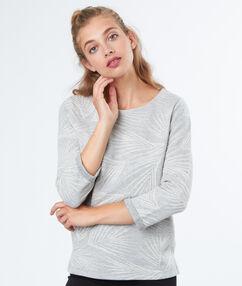 Pull col rond en coton gris chine moyen.