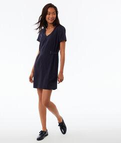 Tencel®-jurk blauw.