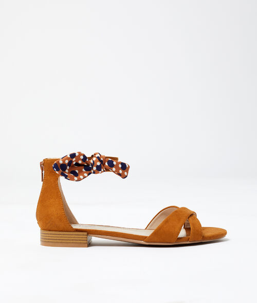 Sandales nouées effet daim Etam Etam Prêt-à-porter > LES ACCESSOIRES > Tous les Accessoires
