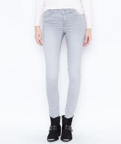 Jean skinny gris clair.