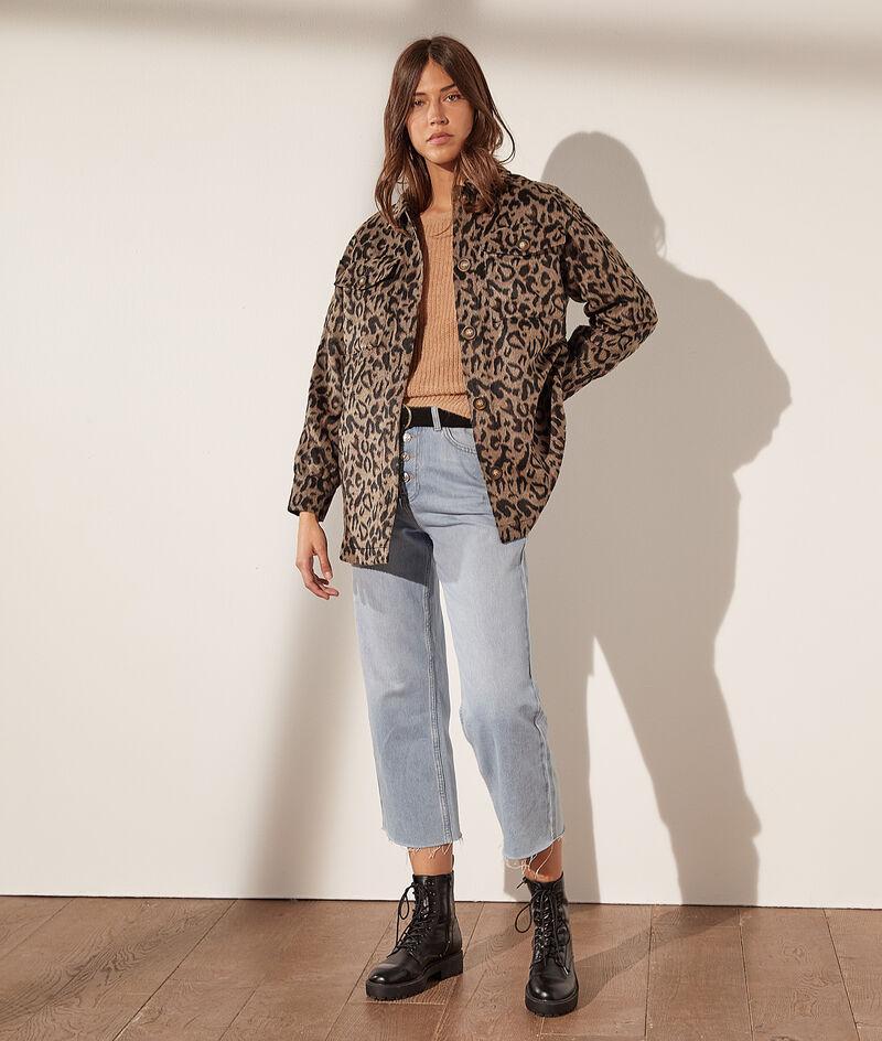 Surchemise à poches imprimé léopard