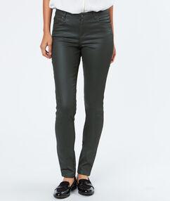 Pantalon slim coton majoritaire kaki.